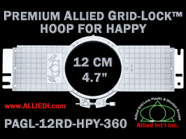 Happy-Embroidery-Frames-Hoops-Allied-Grid-Lock-PRM-12-cm-360