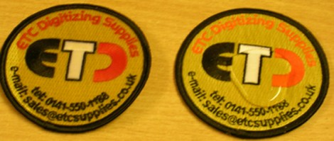 two badges water proof and plain